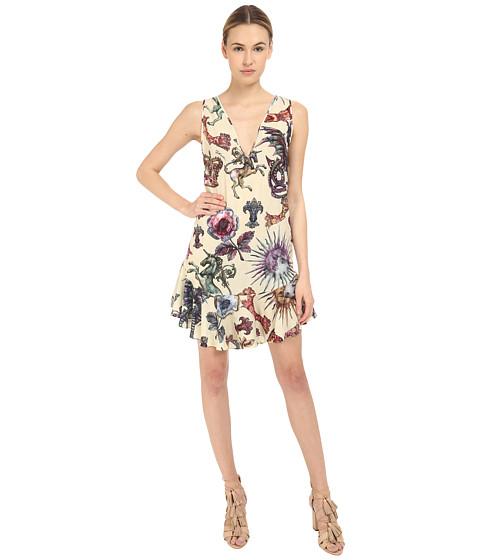 Imbracaminte Femei Just Cavalli Love Royal Printed V-Neck Dress Dusty Violet