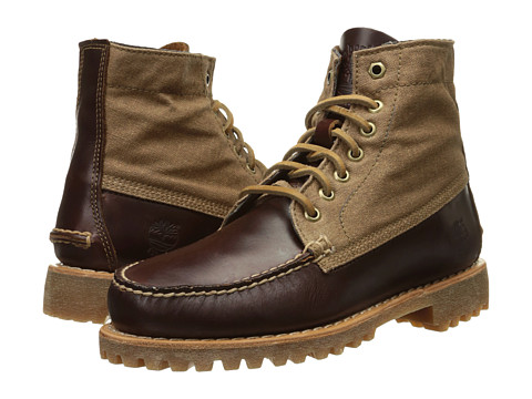 Incaltaminte Barbati Timberland Authentics Leather and Fabric Chukka Medium Brown Full-GrainWax Canvas