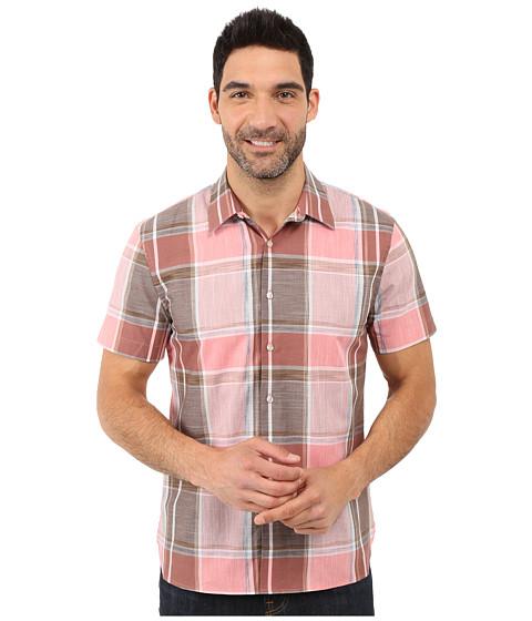 Imbracaminte Barbati Perry Ellis Large Chambray Plaid Shirt Faded Rose