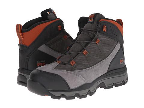Incaltaminte Barbati Timberland Rockscape Mid Steel Safety Toe Grey SuedeOrange Pops