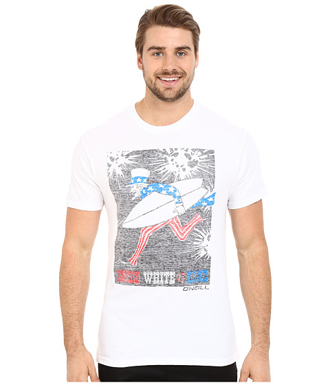 Imbracaminte Barbati O'Neill Shred Short Sleeve Screen Tee White