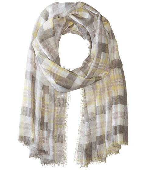 Accesorii Femei Michael Stars Morning Side Plaid Wrap Oyster