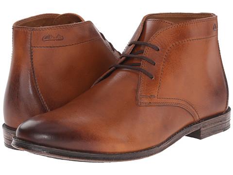 Incaltaminte Barbati Clarks Hawkley Rise Tan Leather