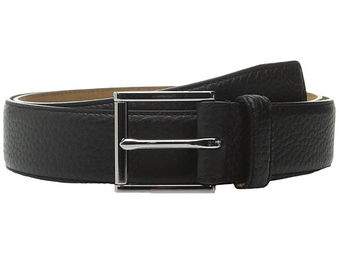 Accesorii Barbati Cole Haan 32mm Stitched Edge Pebble Leather Belt Black