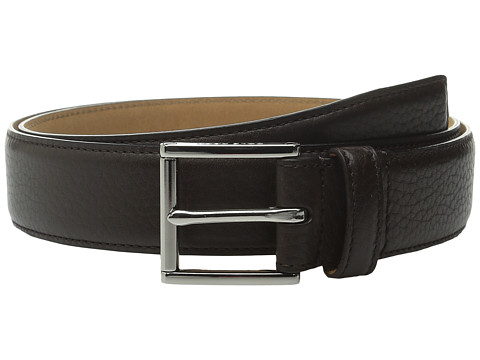 Accesorii Barbati Cole Haan 32mm Stitched Edge Pebble Leather Belt Dark Brown