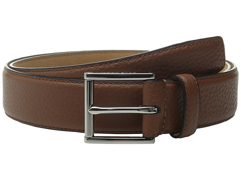 Accesorii Barbati Cole Haan 32mm Stitched Edge Pebble Leather Belt Tan