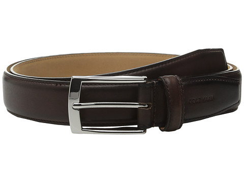Accesorii Barbati Cole Haan 32mm Stitched Pressed Edge Belt with Tab Chestnut