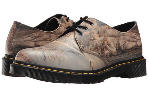 Incaltaminte Femei Dr Martens William Blake 1461 3-Eye Shoe Multi William Blake Backhand