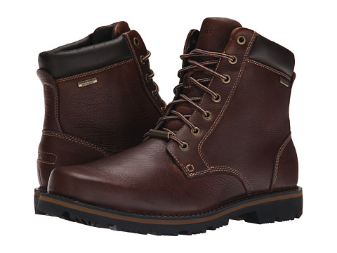 Incaltaminte Barbati Rockport Gentry Waterproof Plaintoe Boot Mahogany