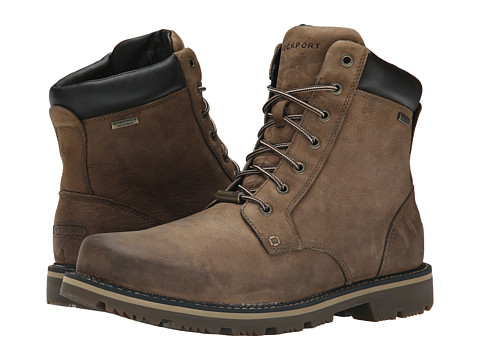 Incaltaminte Barbati Rockport Gentry Waterproof Plaintoe Boot New Tan 2