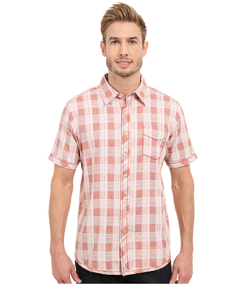 Imbracaminte Barbati Ecoths Deacon Short Sleeve Shirt Langoustino