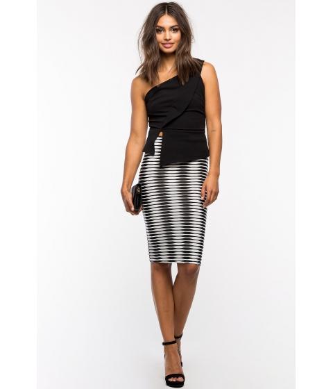 Imbracaminte Femei CheapChic Abstract Pencil Skirt BlackWhite Prt