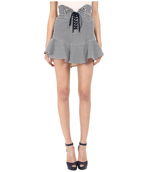 Imbracaminte Femei Just Cavalli Striped Skirt Off-WhiteNavy