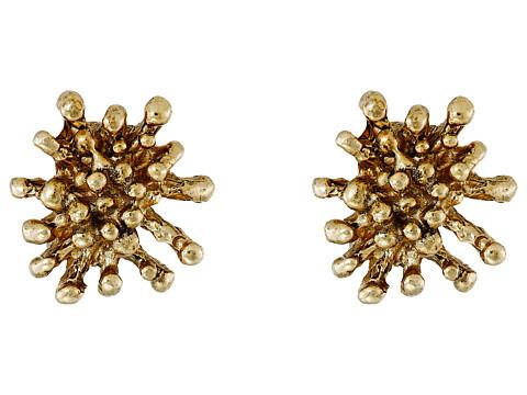Bijuterii Femei Oscar de la Renta Starfish Button C Earrings Light Gold