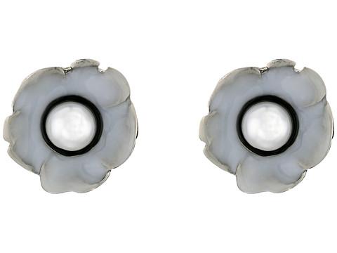 Bijuterii Femei Oscar de la Renta Flower Pearl Button C Earrings WhiteBlack