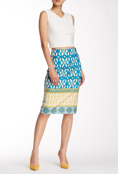 Imbracaminte Femei Champagne Strawberry Printed Pencil Skirt Teal