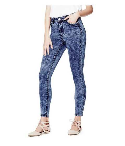 Imbracaminte Femei GUESS Shavella High-Rise Skinny Jeans dark wash
