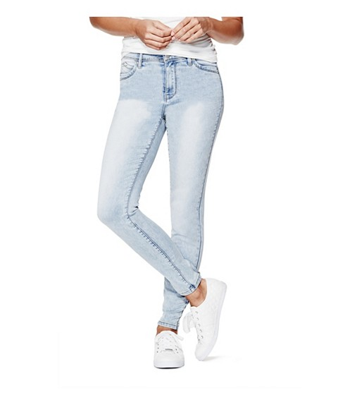Imbracaminte Femei GUESS Shavella High-Rise Skinny Jeans light wash