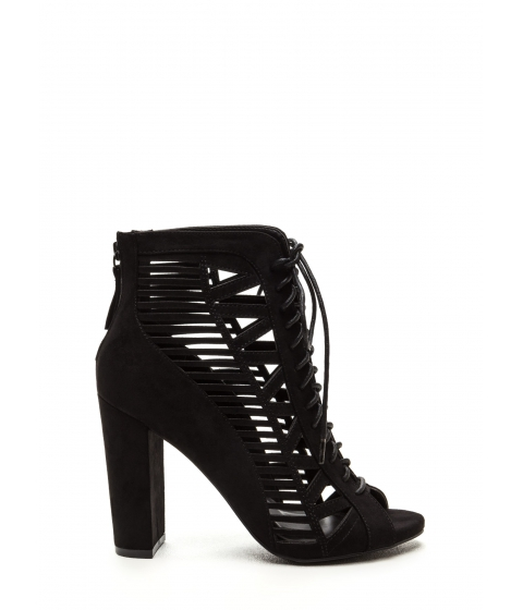 Incaltaminte Femei CheapChic Pencil You In Lace-up Caged Heels Black