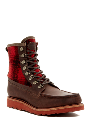 Incaltaminte Barbati Wolverine Penninsula Plaid Boot BROWN-RED