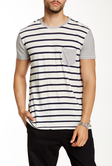 Imbracaminte Barbati Sol Angeles Duo Striped Pocket Tee NATURAL