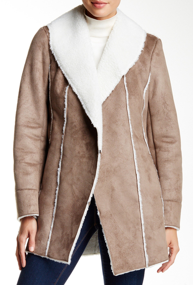 Imbracaminte Femei Kenneth Cole New York Faux Shearling Coat SAND