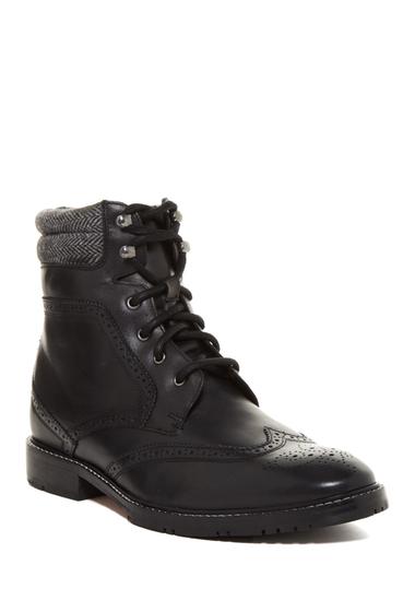 Incaltaminte Barbati Ben Sherman Ali Wingtip Boot BLACK
