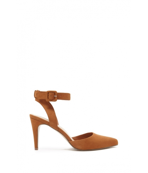 Incaltaminte Femei Forever21 Faux Suede Ankle Strap Sandals Camel