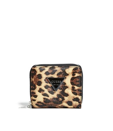 Accesorii Femei GUESS Abree Leopard-Print Wallet leopard