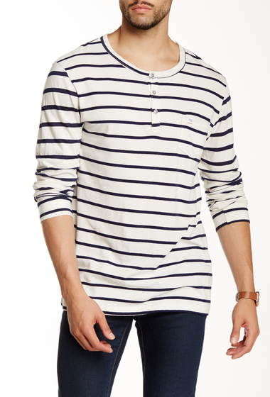 Imbracaminte Barbati Sol Angeles Striped Long Sleeve Henley NATURAL