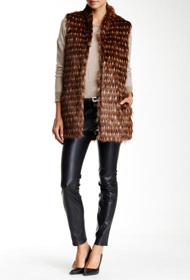 Imbracaminte Femei Ellen Tracy Faux Fur Vest Macchiato