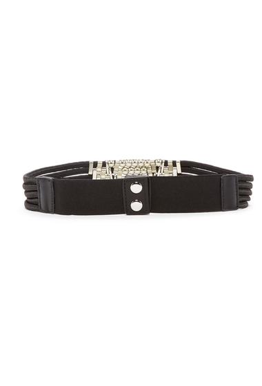 Accesorii Femei Steve Madden Elastic Multi-Cord Metal Belt BLACK