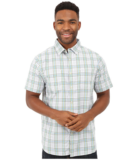 Imbracaminte Barbati The North Face Short Sleeve Off The Grid Plaid Shirt TNF WhiteVibrant Green Plaid