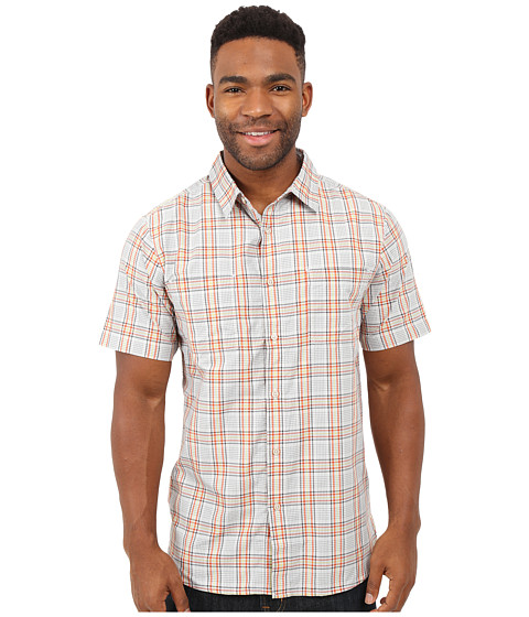 Imbracaminte Barbati The North Face Short Sleeve Off The Grid Plaid Shirt High Rise GreyPapaya Orange Plaid (Prior Season)