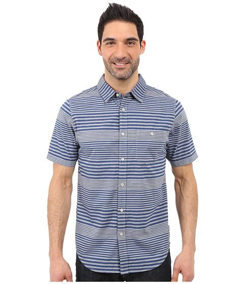 Imbracaminte Barbati The North Face Short Sleeve Engine Stripe Shirt Blue Coral (Prior Season)