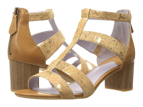 Incaltaminte Femei Johnston Murphy Kallie Back Zip Sandal Natural Metallic Cork