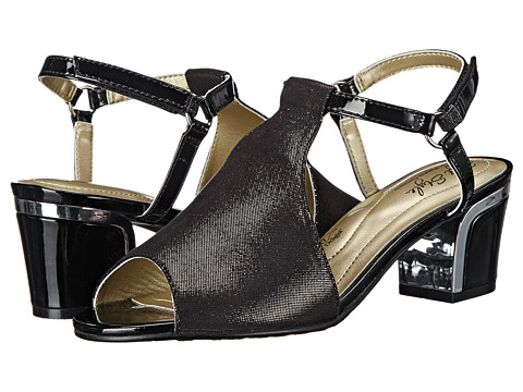 Incaltaminte Femei Soft Style Dalyne Black Sparkle ShineSilver Heel