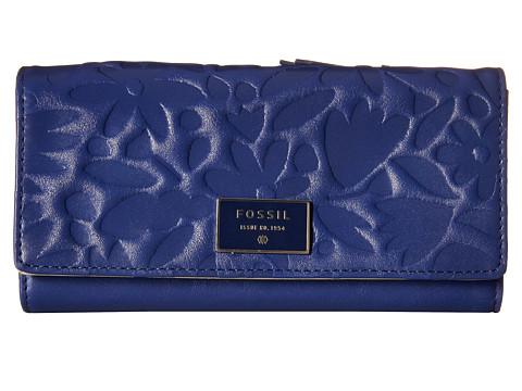 Genti Femei Fossil Dawson Flap Clutch Blue Floral