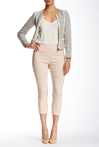 Imbracaminte Femei Insight Apparel Solid Techno Pull On Cropped Pant PINK
