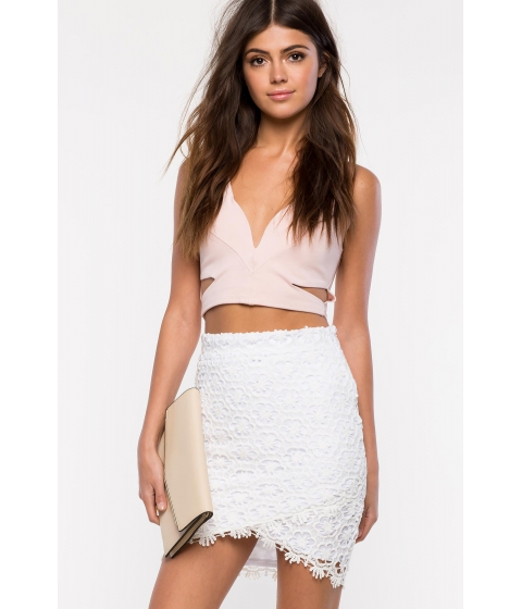 Imbracaminte Femei CheapChic Origami Crochet Skirt White