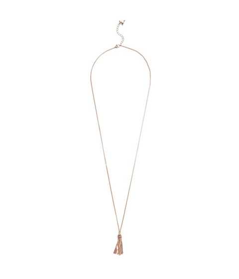 Bijuterii Femei GUESS Rose Gold-Tone Tassel Necklace rose gold