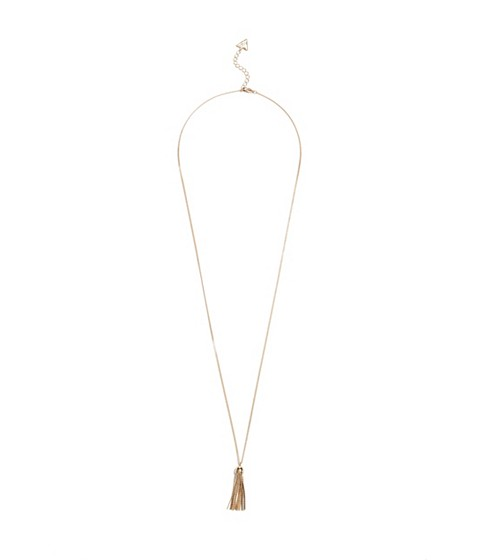 Bijuterii Femei GUESS Gold-Tone Tassel Necklace gold