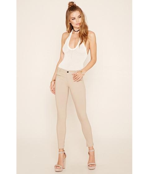 Imbracaminte Femei Forever21 Zipper-Front Skinny Jeans Khaki