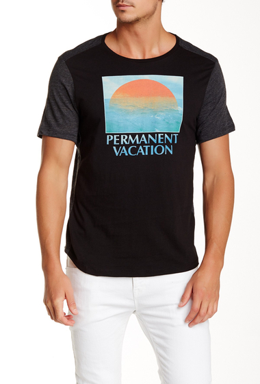 Imbracaminte Barbati Howe Permanent Vacation Crew Neck Tee NIGHT SHAD