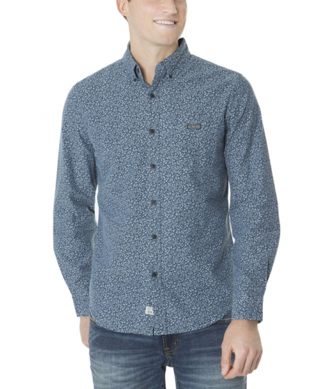 Imbracaminte Barbati US Polo Assn SLIM FIT LONG SLEEVE CANVAS PRINT SHIRT Classic Navy