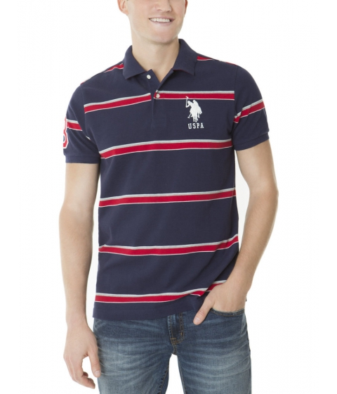 Imbracaminte Barbati US Polo Assn STRIPE POLO SHIRT Classic Navy