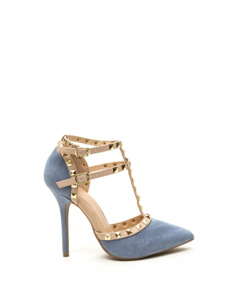 Incaltaminte Femei CheapChic To The T Pointy Heels Blue