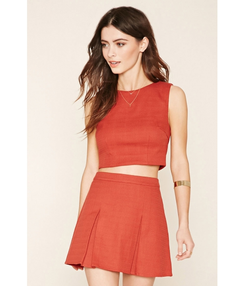 Imbracaminte Femei Forever21 Pleated Twill Mini Skirt Rust