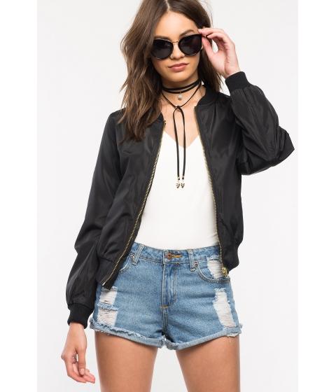 Imbracaminte Femei CheapChic Alex Nylon Bomber Jacket Black