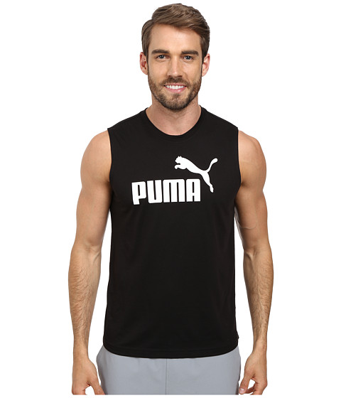 Imbracaminte Barbati PUMA Essential No 1 Logo Sleeveless Tee BlackWhite